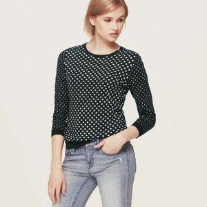 Ann Taylor Loft Polka Dot Sweater